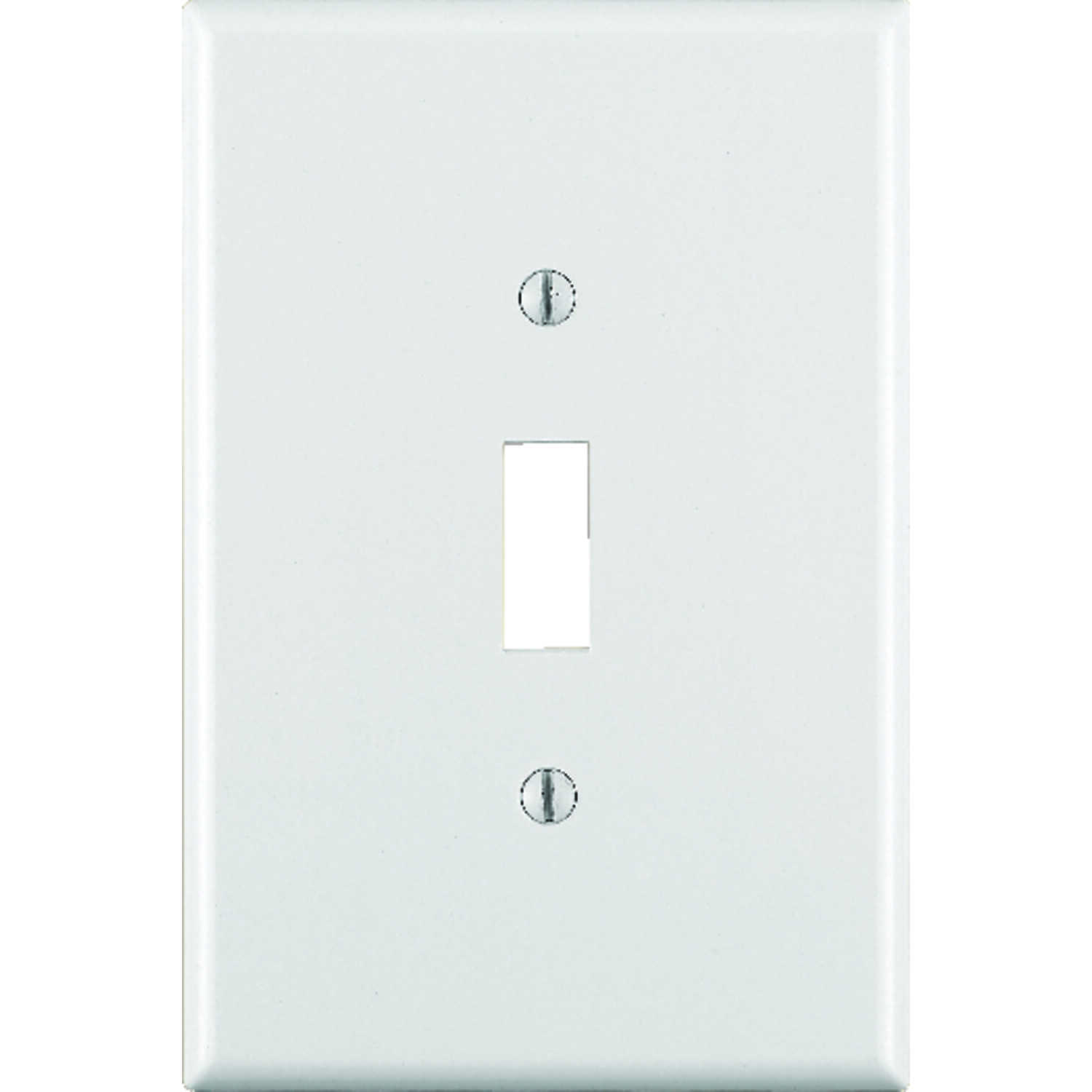 Leviton  White  1 gang Plastic  Toggle  Wall Plate  1 pk