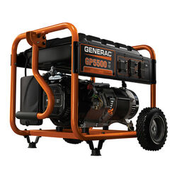 Generac  GP Series  5500 watt 120/240 volt Gas  Portable  Generator