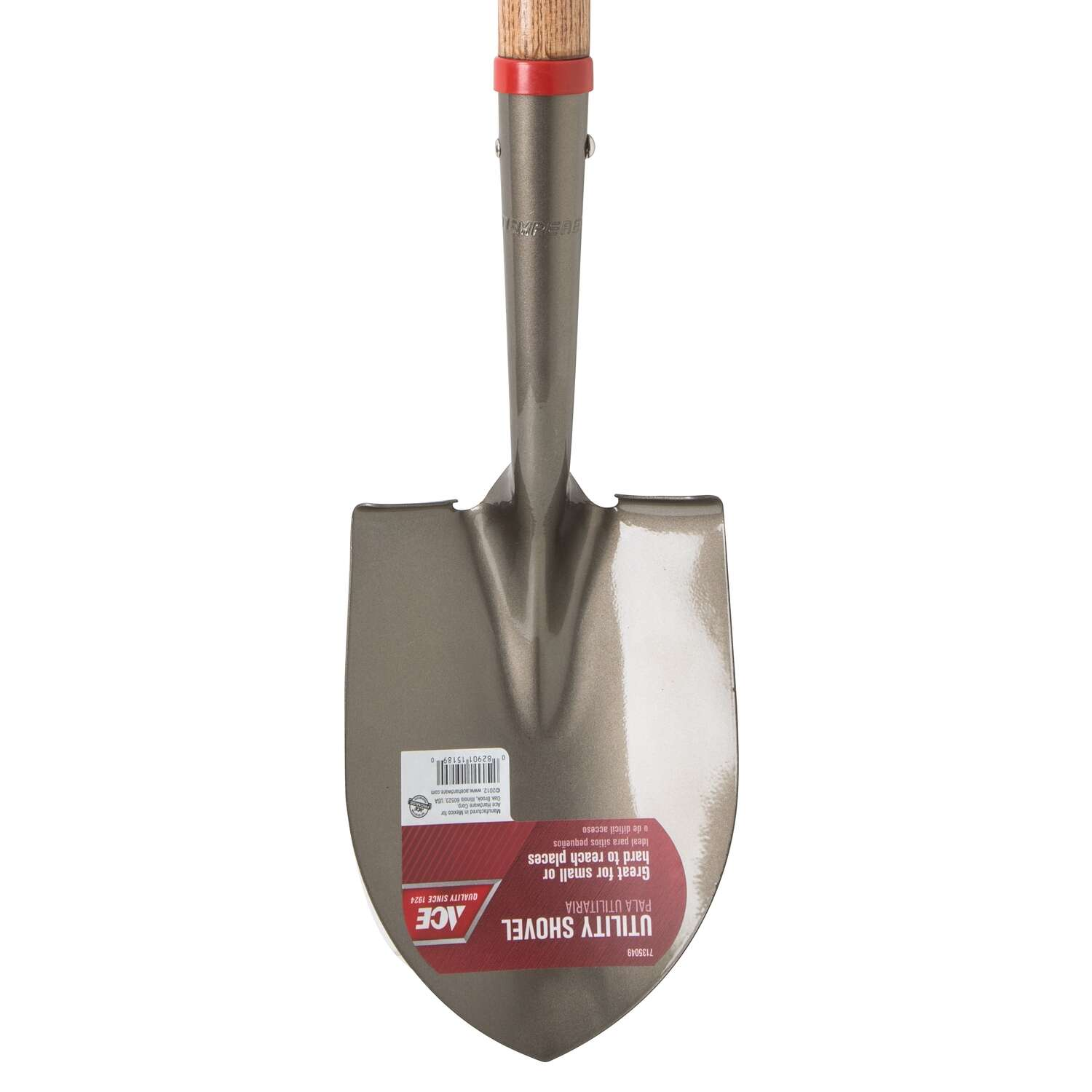 Ace  Little Pal  Steel  8-1/4 in. W x 27 in. L Mini Round Point  Shovel  Wood