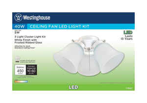 Westinghouse  Natural  White  Cluster Ceiling Fan Light Kit