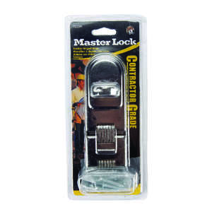 Master Lock  Zinc-Plated  Hardened Steel  7-3/4 in. L Double Hinge Safety Hasp