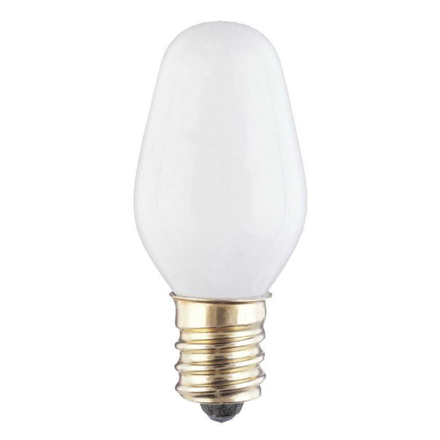 Westinghouse  4 watts C7  Incandescent Bulb  19 lumens White  4 pk Speciality