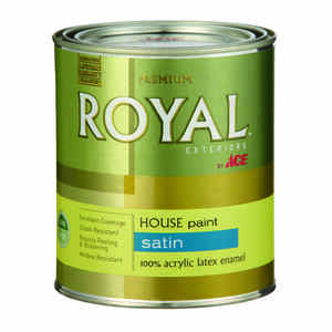 Ace  Royal  Satin  White  Acrylic Latex  House & Trim Paint & Primer  1 qt.