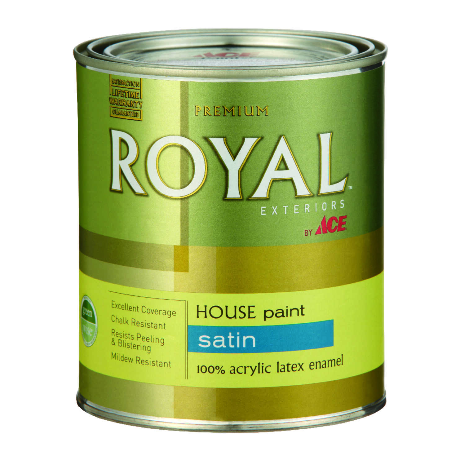 Ace Royal Satin White Acrylic Latex House Trim Paint Primer