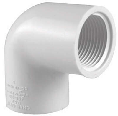 Charlotte Pipe  Schedule 40  1/2 in. FPT   x 1/2 in. Dia. FPT  PVC  Elbow