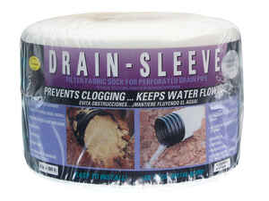 Drain Sleeve  100 ft. L x 0.625 in. Dia. Polyester  Filter Fabric Sock