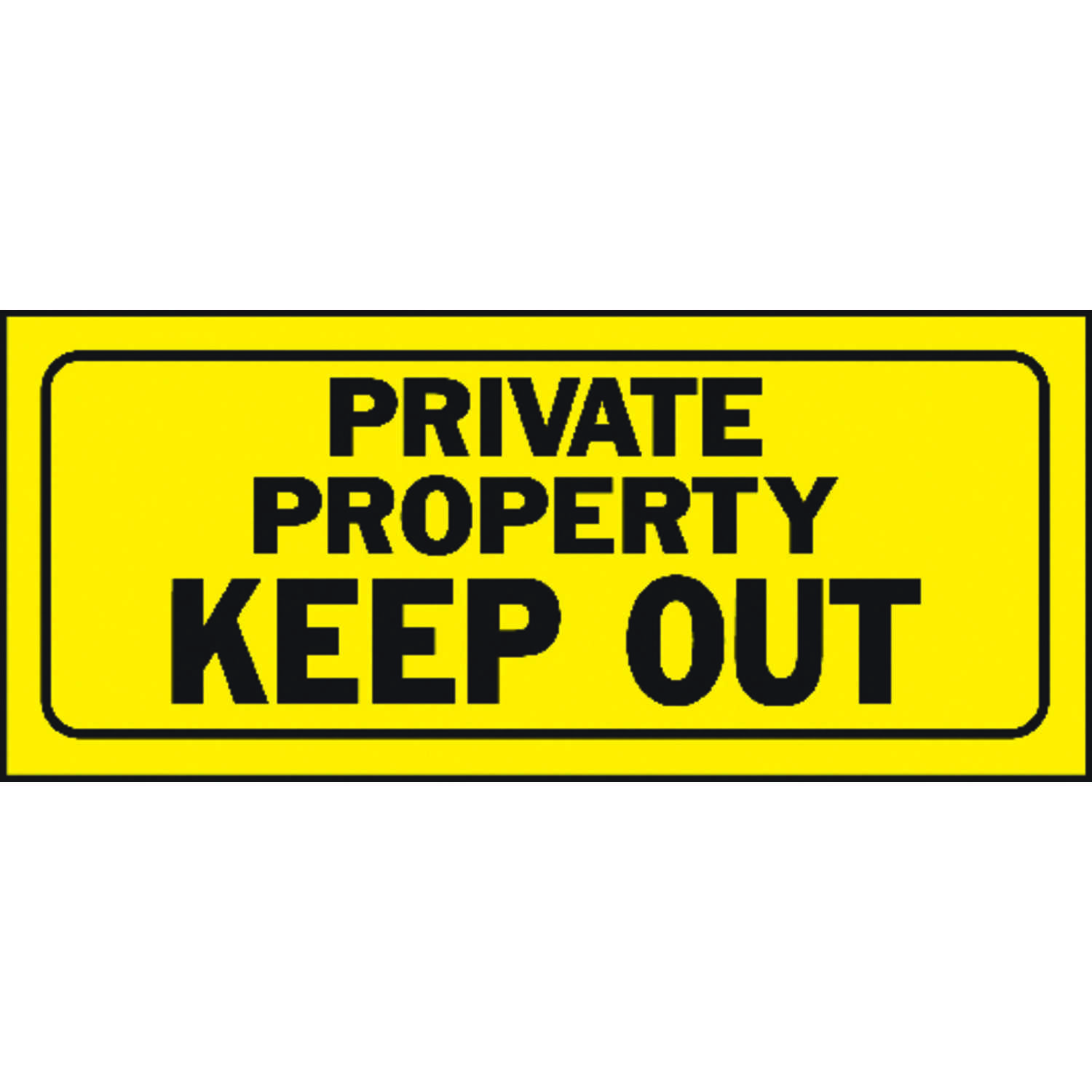 Hy-Ko  English  Private Property Keep Out  Sign  Plastic  6 in. H x 14 in. W
