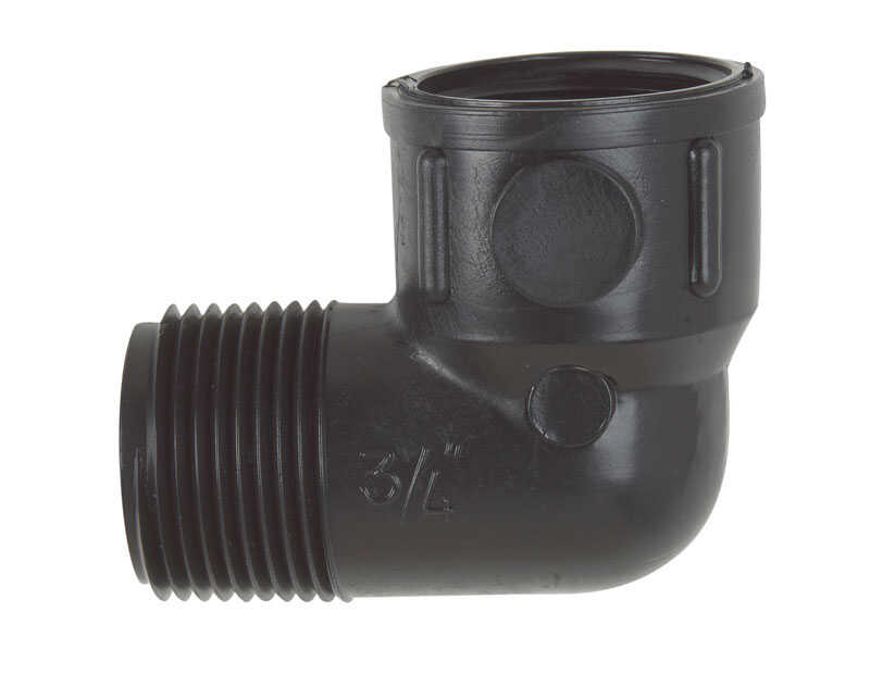 NDS  3/4 inch in. Dia. x 1.75 in. L Swing Pipe Elbow