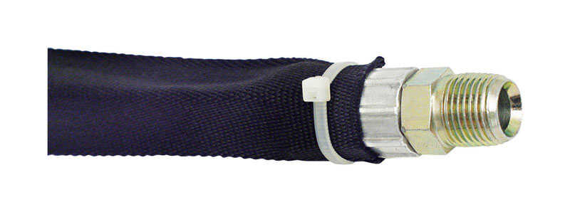Universal  1-1/8 in. Dia. x 15 ft. L Hose Sleeve  Black  1