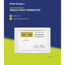 White Rodgers  Heating and Cooling  Touch Screen  Single Pole Thermostat