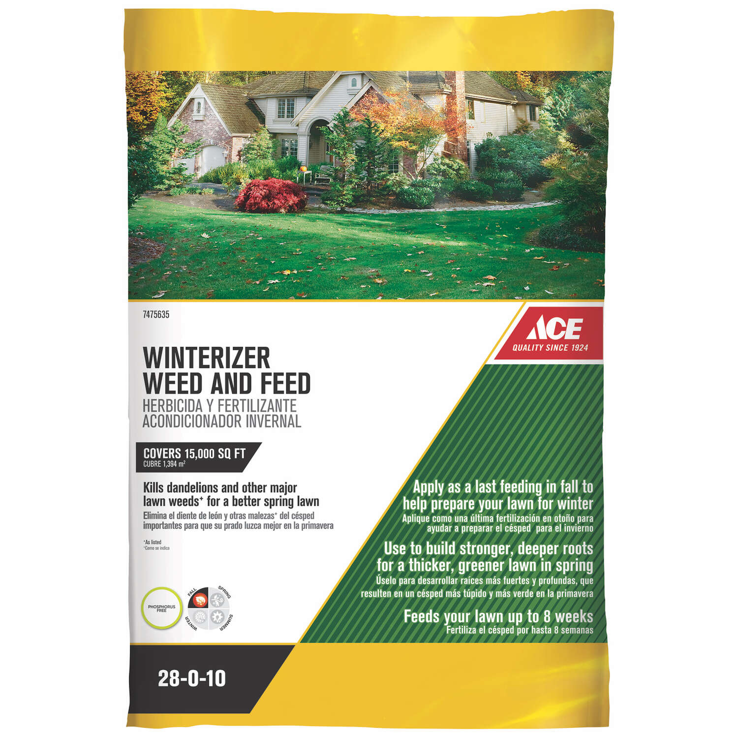 Ace  28-0-10  Winterizer Weed And Feed  For All Grass Types