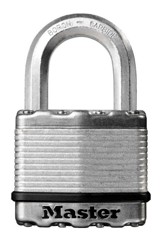 Master Lock  1-7/16 in. H x 13/16 in. W x 2 in. L Laminated Steel  Ball Bearing Locking  Padlock  6