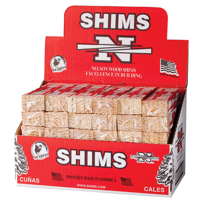 Nelson  Wood Shims  8 in. L x 1.4 in. W Shim  Wood  12 pk
