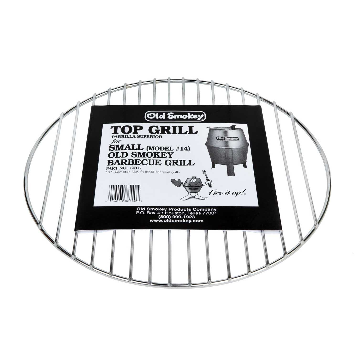 Old Smokey  Plated Steel  Grill Cooking Grate  0.5 in. H x 13 in. W x 13 in. L