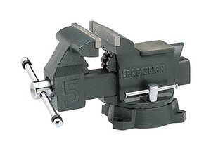Craftsman  5.5 in. Steel  Gray  Bench Vise  Swivel Base