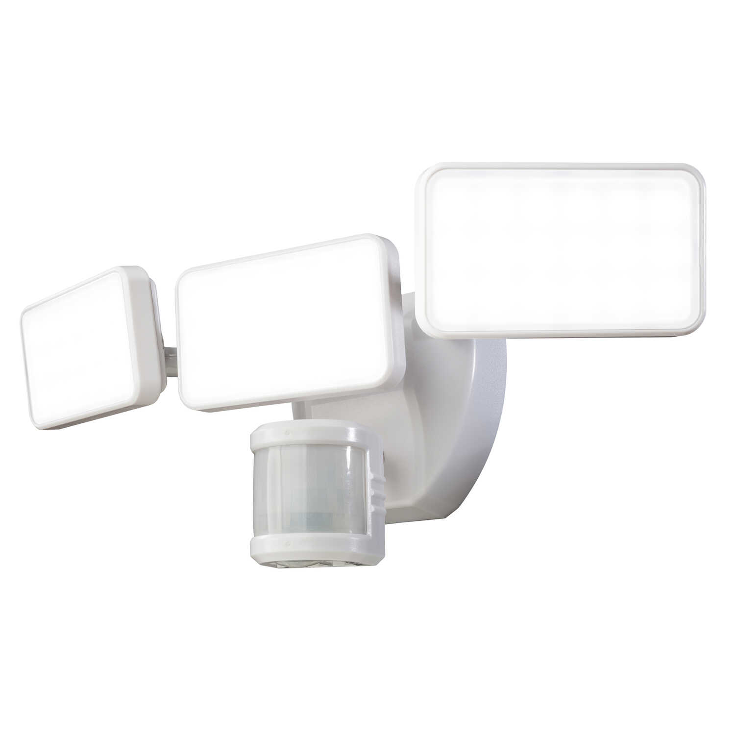 Heath Zenith  Plastic  LED  Motion-Sensing  Security Wall Light  White  Hardwired