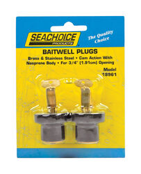 Seachoice Stainless Steel 3/4 in. W Deck and Baitwell Plugs 2 pk