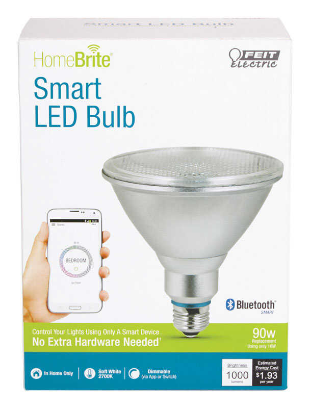 FEIT Electric  HomeBrite Smart  16 watts PAR38  LED Bulb  1000 lumens Soft White  Reflector  90 Watt