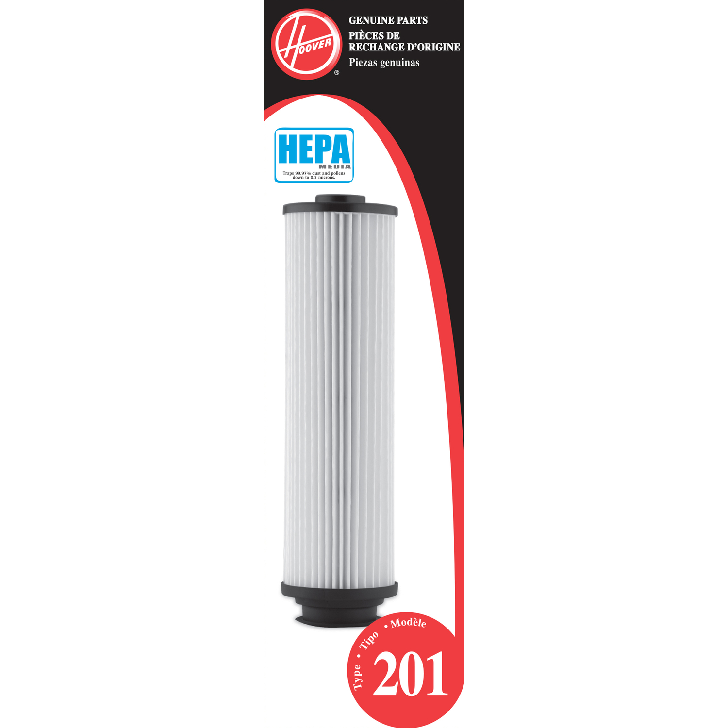 Hoover  Replacement Vacuum Filter HEPA  Fits Hoover Cartridge 1 / Pack Bagless