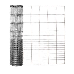 Garden Craft 28 in. H x 50 ft. L Galvanized Steel Garden Fence Silver