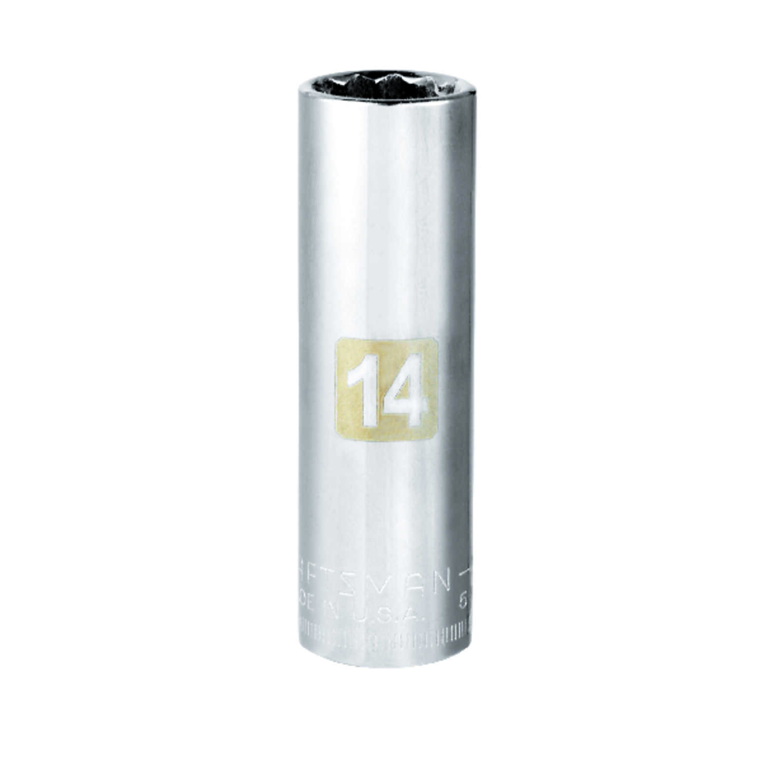 Craftsman  14 mm  x 3/8 in. drive  Metric  12 Point Deep  Socket  1 pc.