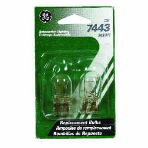 GE  12 volt T7  Automotive Bulb  2 pk 7443BP2