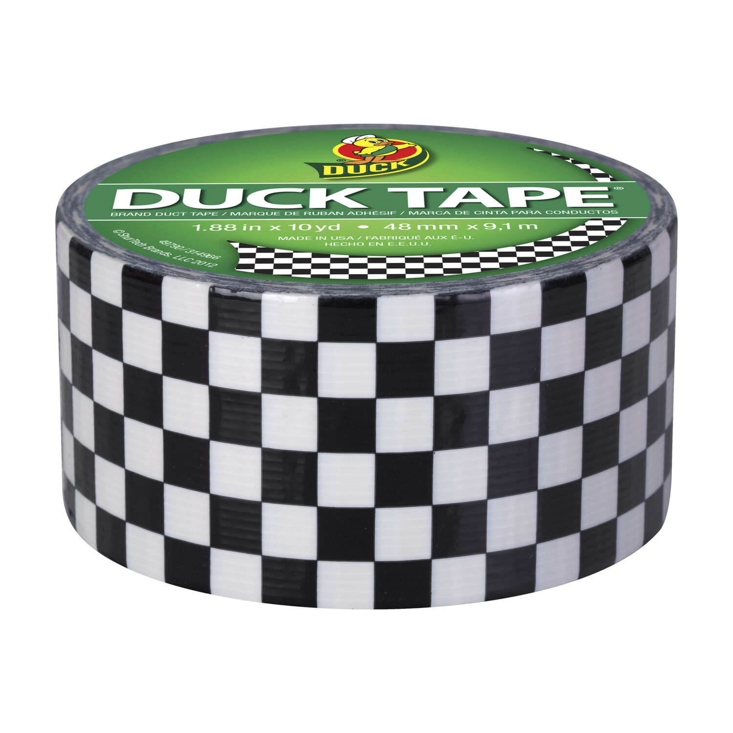 Duck Brand  30 ft. L x 1.88 in. W Black  Checker  Duct Tape