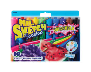 Mr. Sketch  Assorted  Chisel Tip  Scented Markers  10 pk