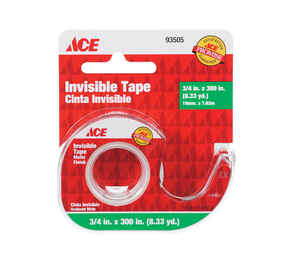 Ace  3/4 in. W x 300 in. L x 300 in. L x 3/4 in. W Clear  Tape