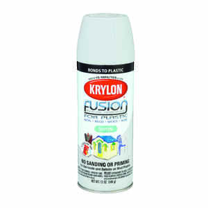 Krylon  Satin  Gray Pewter  12 oz. Fusion Spray Paint