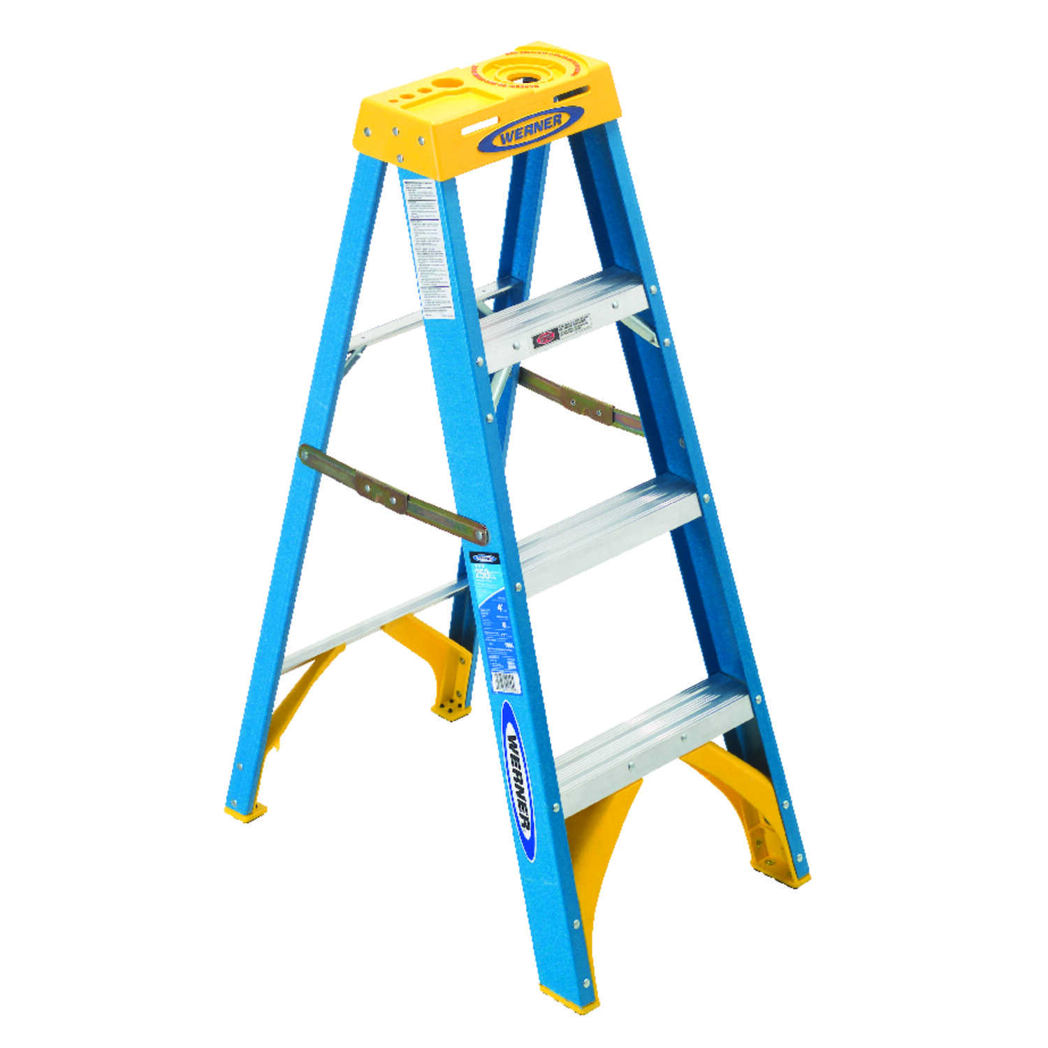 Werner  4 ft. H x 19 in. W Fiberglass  Type I  Step Ladder  250 lb.