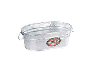 Behrens  7.5 gal. Steel  Tub  Oval