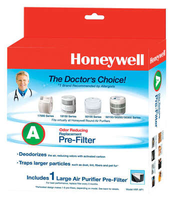 Honeywell  10.13 in. H x 2.75 in. W Square  Carbon Pre-Filter