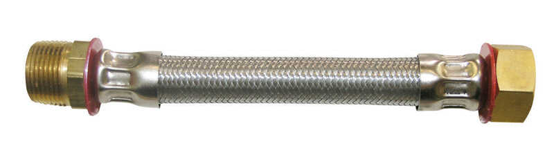 Ace  3/4 in. FIP   x 3/4 in. Dia. MIP  Stainless Steel  1.5 ft. Supply Line