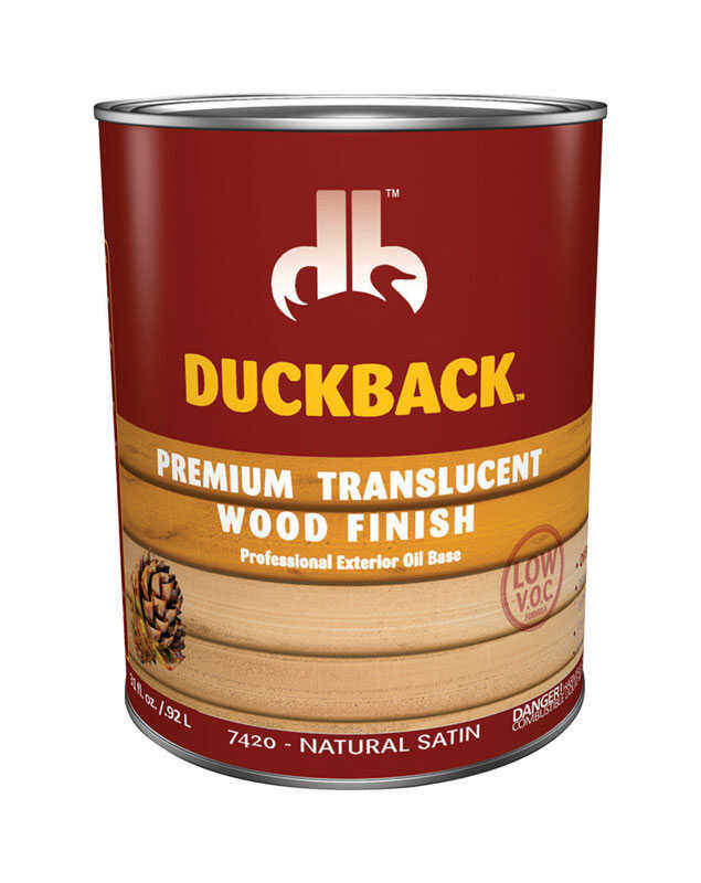 Duckback  Premium  Transparent  Natural Satin  Penetrating Oil  Wood Finish  1 qt.