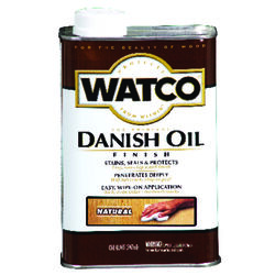 Watco  Rust-Oleum  Transparent  Natural  Oil-Based  Danish Oil  1 qt.