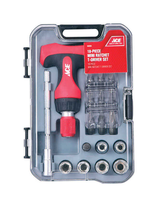 Ace  18 pc. Mini T-Driver Set  Plastic
