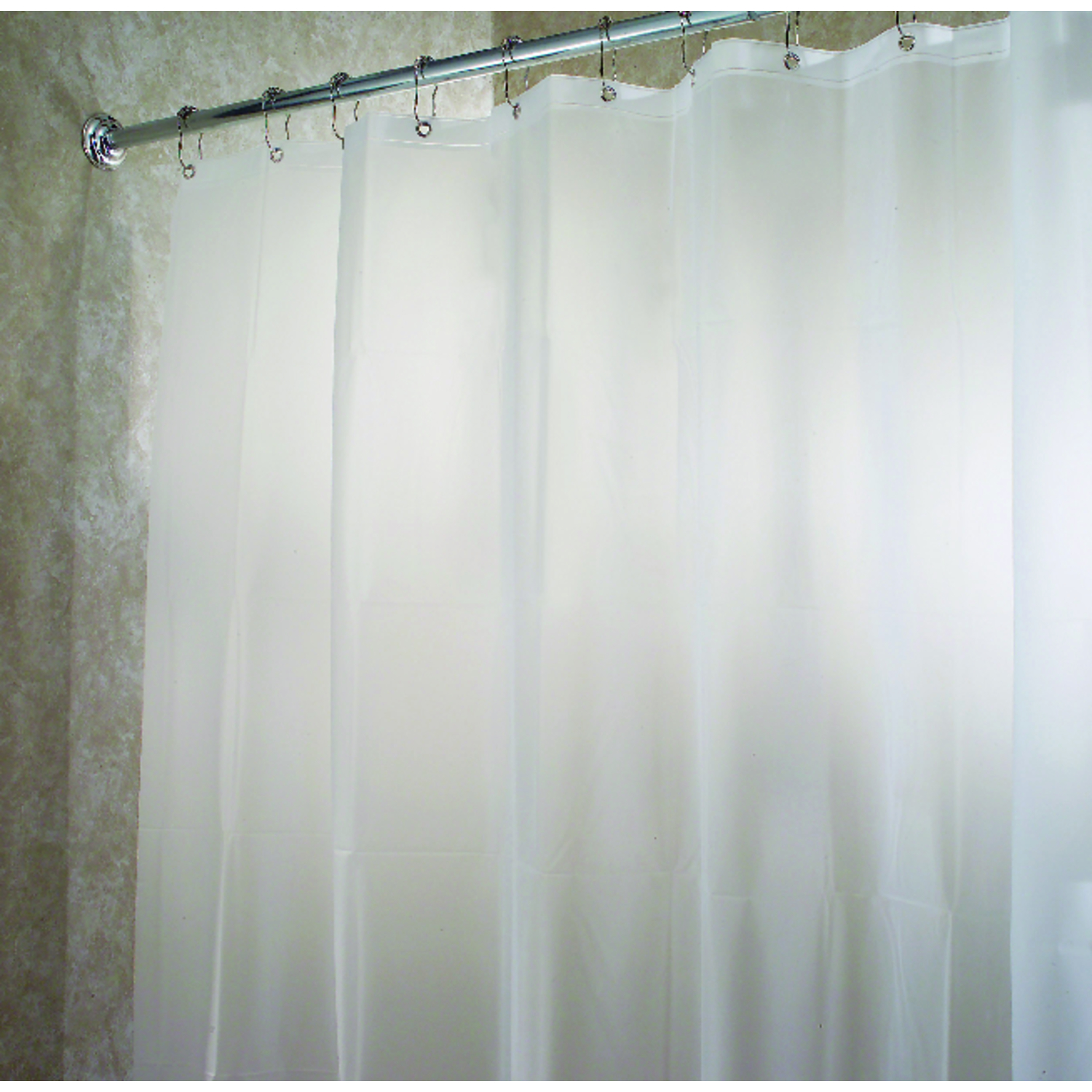 InterDesign  78 in. W x 54 in. H Frosted  Eva  Shower Curtain Liner