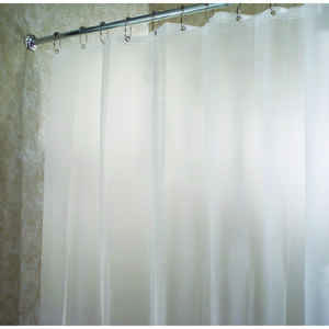 InterDesign  54 in. H x 78 in. W Frosted  Eva  Shower Curtain Liner