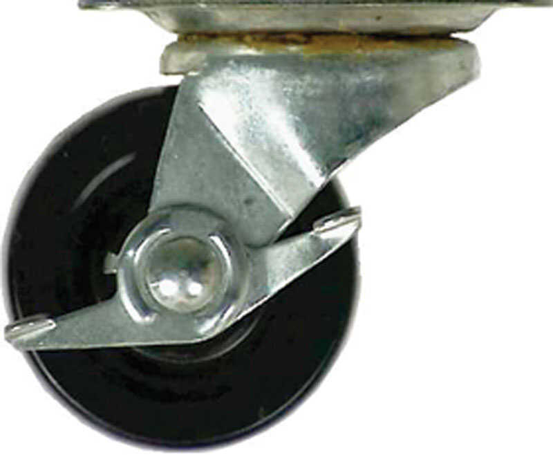 Shepherd  4 in. Dia. Swivel Rubber  Caster  200 lb. 1 pk