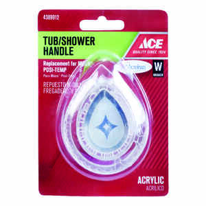 Ace  Tear Drop  Acrylic  Clear  Tub and Shower Handle