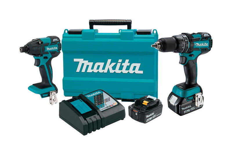 Makita  LXT  Cordless  Brushless Hammer Drill and Impact Driver Kit  18 volt