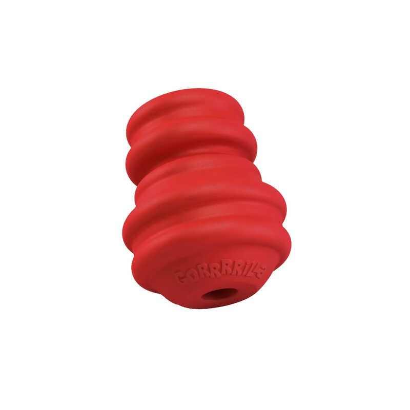 MultiPet  Red  Gorrrilla  Chew Dog Toy  Small  Rubber