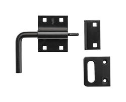 National Hardware 1.31 in. H x 5.5 in. W x 4.06 in. L Black Steel Slide-Action Gate Latch