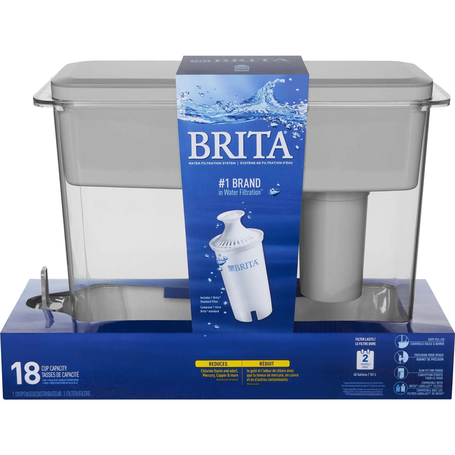 Brita  18  Gray  Ultramax Dispenser