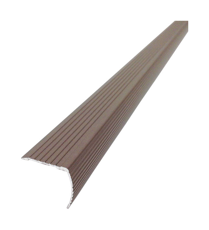 M-D Building Products  Cinch  36 in. L Prefinished  Brown  Aluminum  Stair Edge