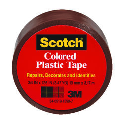 Scotch  Brown  125 in. L x 1-1/2 in. W Plastic Tape
