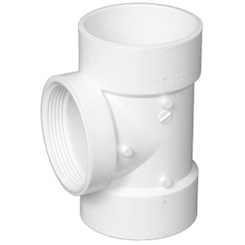 Charlotte Pipe  Schedule 40  6 in. Hub   x 6 in. Dia. Hub  PVC  Flush Cleanout Tee