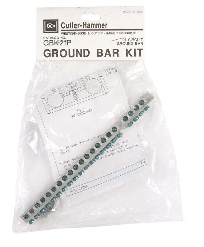 Eaton Cutler-Hammer 0 amps N/A volt 21 space 21 circuits Bolt-On Mount Ground Bar Kit