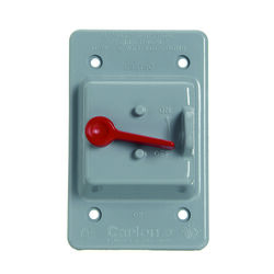 Carlon  Rectangle  PVC  1 gang Weatherproof Cover  For 1 Toggle Switch